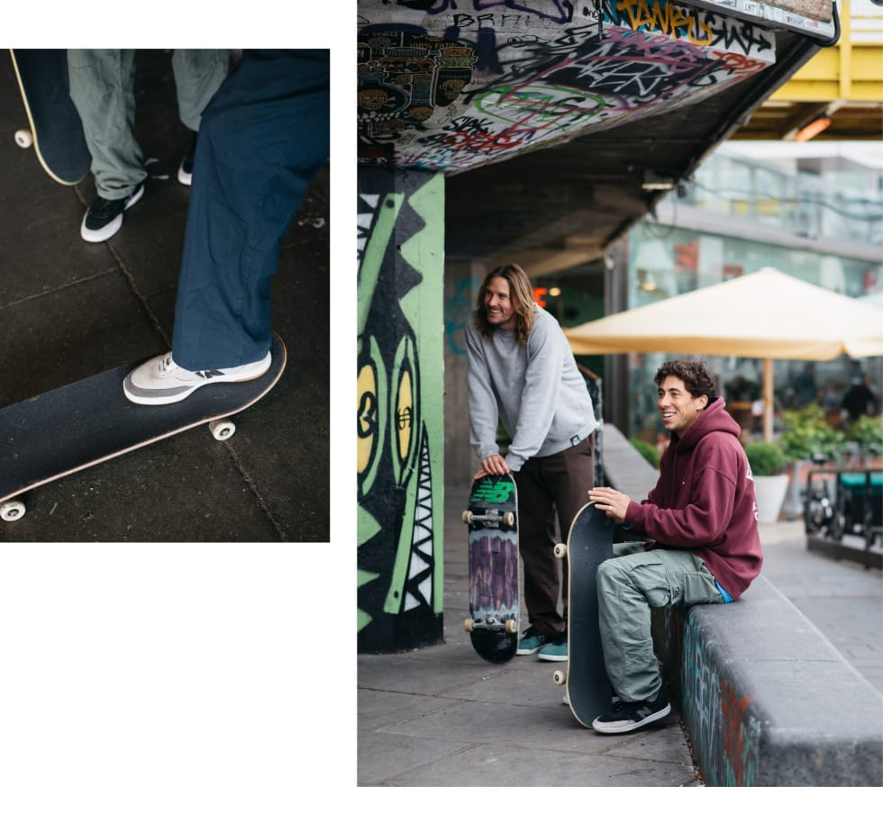 The New Balance 440 skate shoe comes in a host of colours, including black and white.