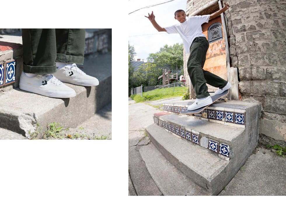 Louis Lopez in his signature skate shoe. His first pro shoe for Converse Cons. Well deserved!