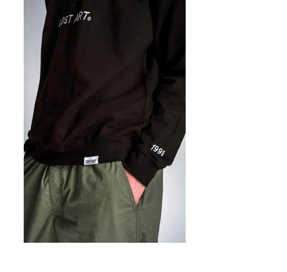 Lost Art L Star Quarter Zip Jumper in Black