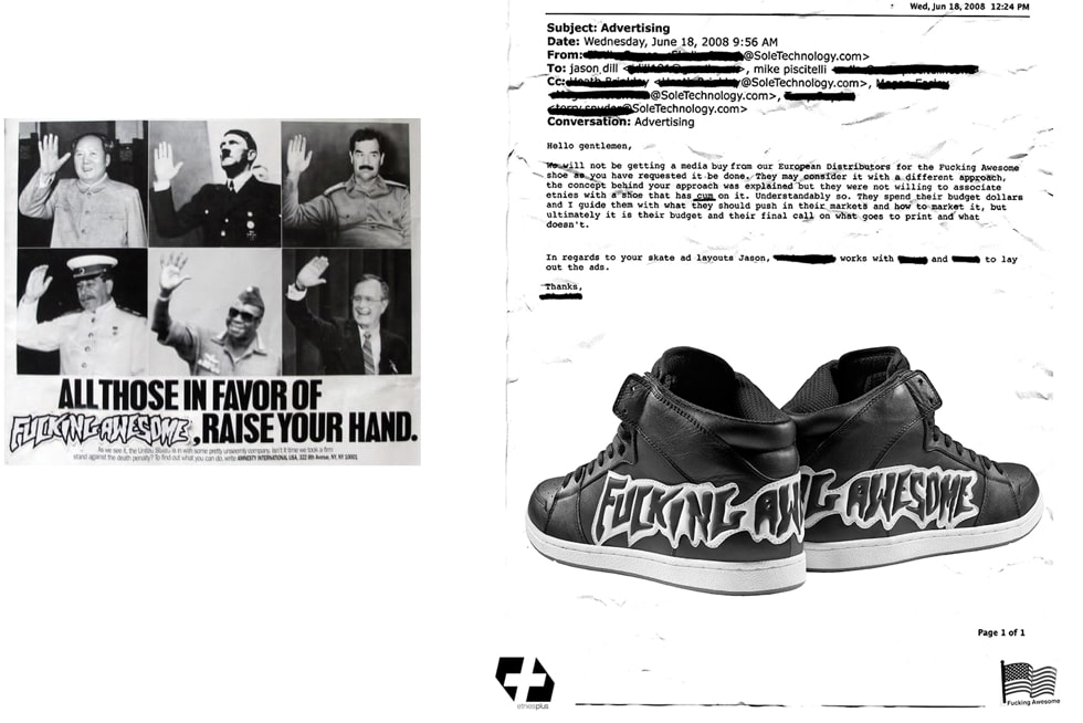 Jason Dill joined Etnies in 2007 and released the first ever Fucking Awesome collab shoe a year later.