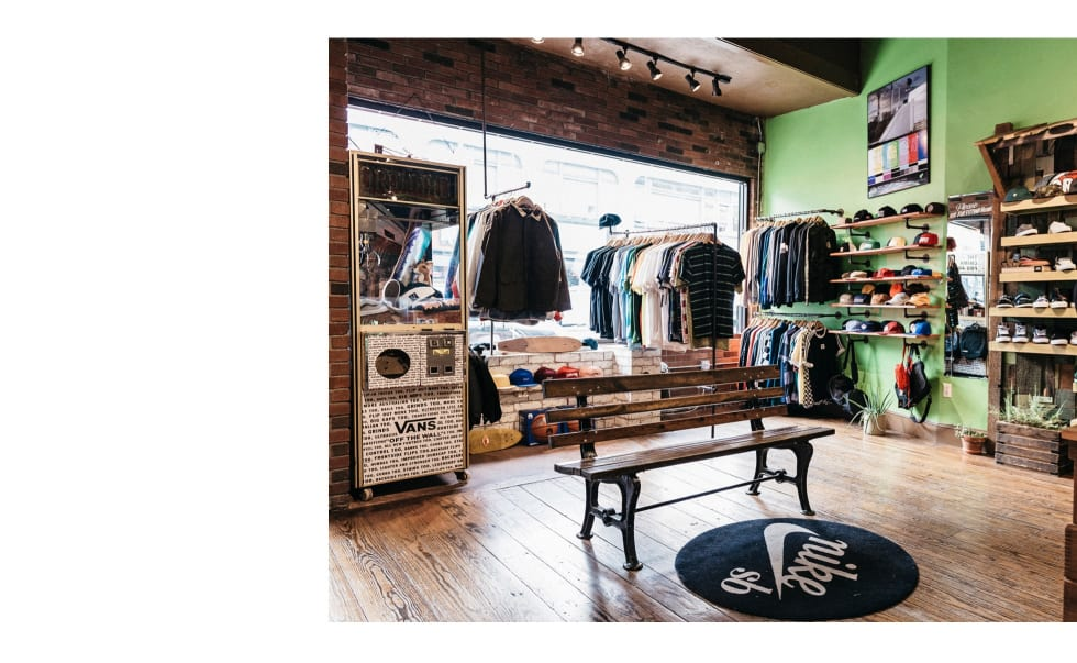 2. The interior shot of Orchard Skate Shop. Such a good skate shop.