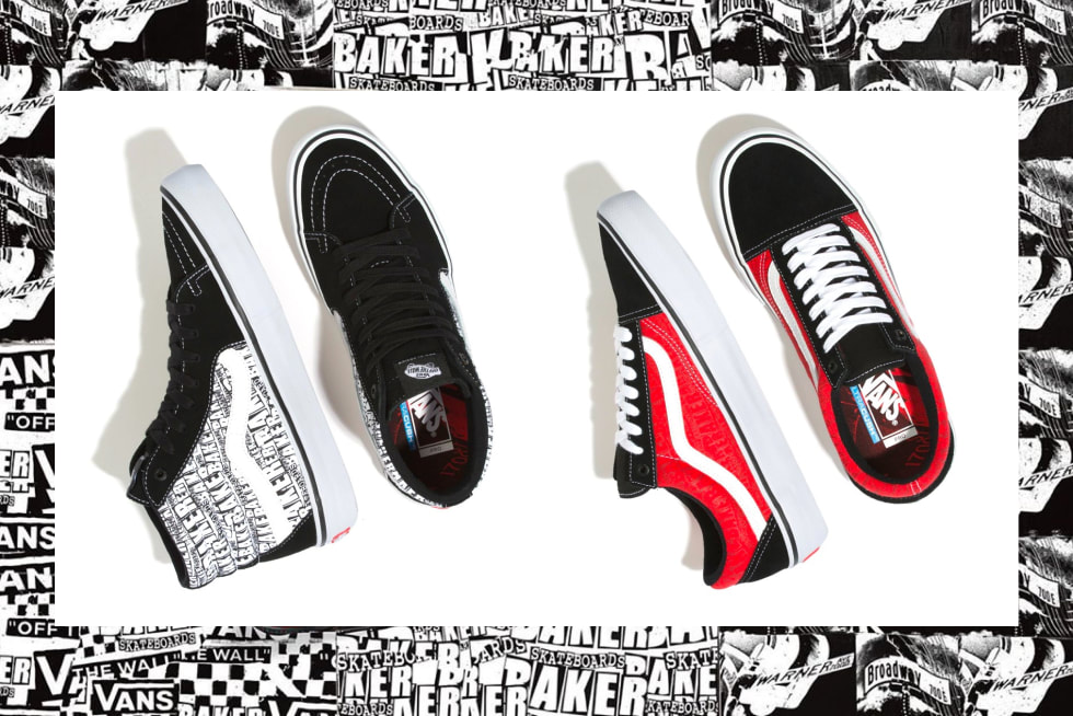 Vans Off The Wall x Baker Skateboards Capsule Collection.