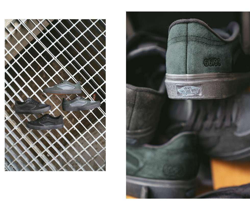 3. Vans Rowley RapidWeld Pro LTD is the latest release from skateboarder Geoff Rowley celebrating his original Vans Rowley pro skate shoe. Coming in durable green and black suede, the two models feature breathable mesh panels and classic Vans vulc wrap.