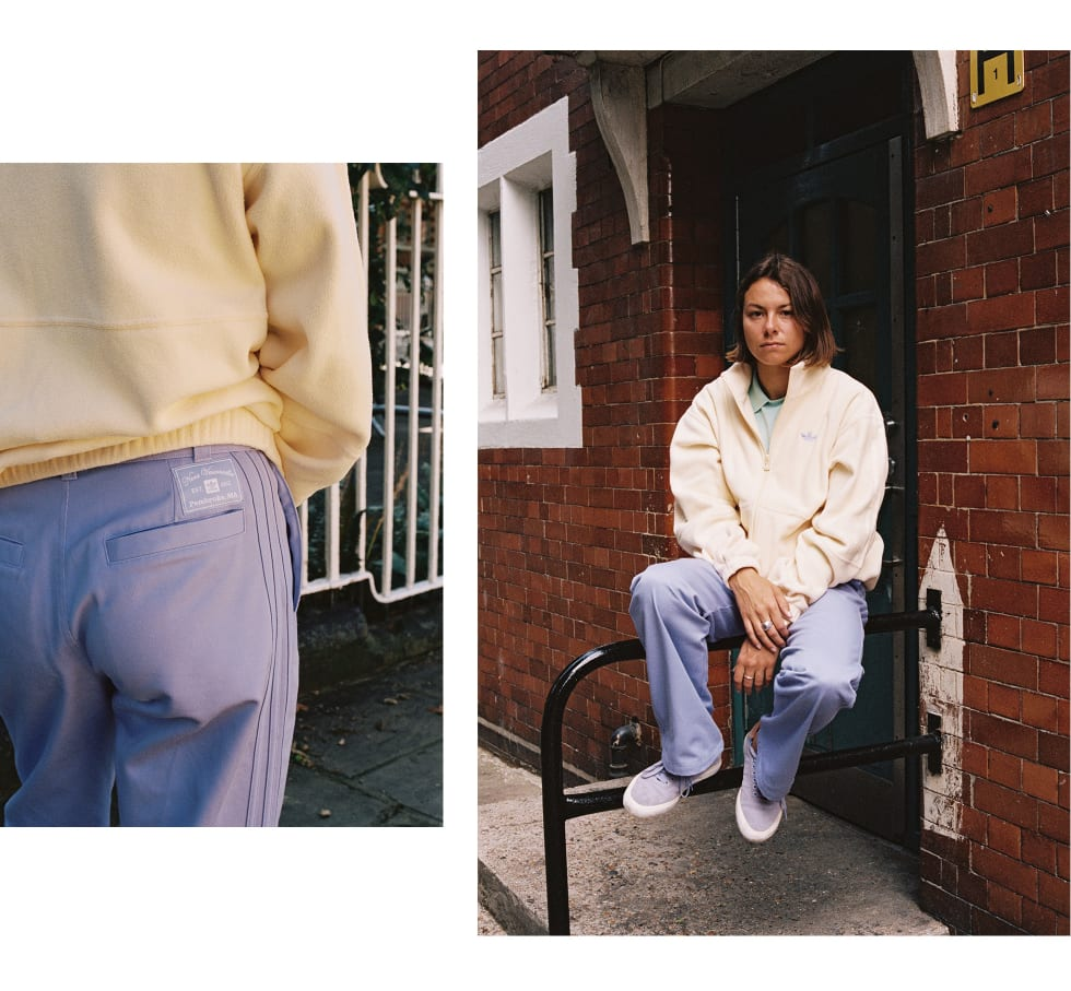 2. Nora Vasconcellos in London for her new unisex adidas skateboarding clothing collection. Nora is represented by adidas, Welcome Skateboards, Bronson Bearings, Krux Trucks and OJ Wheels.