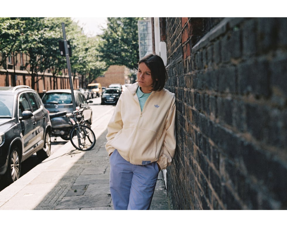 6. Nora Vasconcellos in London for her new unisex adidas skateboarding clothing collection. Nora is represented by adidas, Welcome Skateboards, Bronson Bearings, Krux Trucks and OJ Wheels.