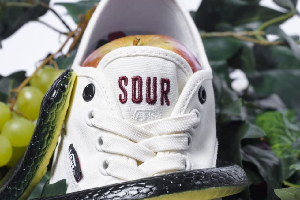 4. A close up look at the Vans Sour Authentic Pro
