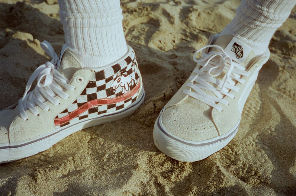 2. Alltimers and Vans shoes Holiday collaboration. The collection includes two colourways of a Vans Sk8-Mid Pro LTD, which feature Vans Ultracush HD sockliners and Duracap bumper for abrasion resistance.