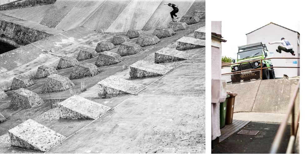 6. The National Skateboard Co. interview. Josh Gregory Nose wheelie Chew Magna. Cam Barr Hippy Jump, Plymouth . Photos Reece Leung.
