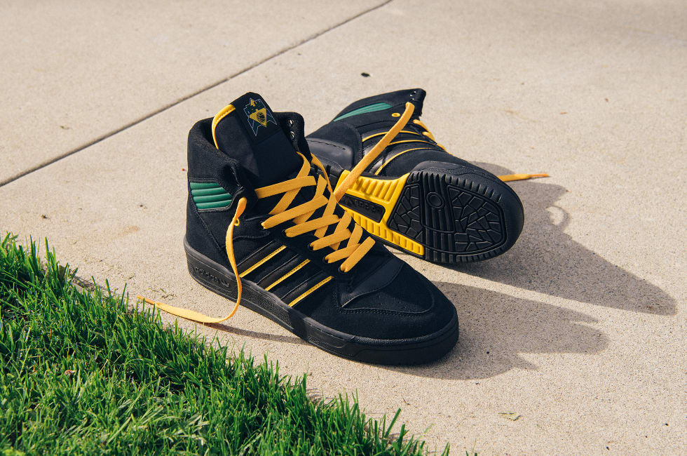 2. adidas Na-Kel Rivalry Hi OG. adidas Skateboarding and Na-Kel Smith present a hi-top skate shoe with maximum durability and lasting style.