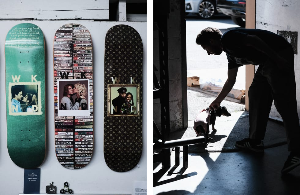 6. WKND Skateboards interview and behind the scenes warehouse visit. WKND graphics