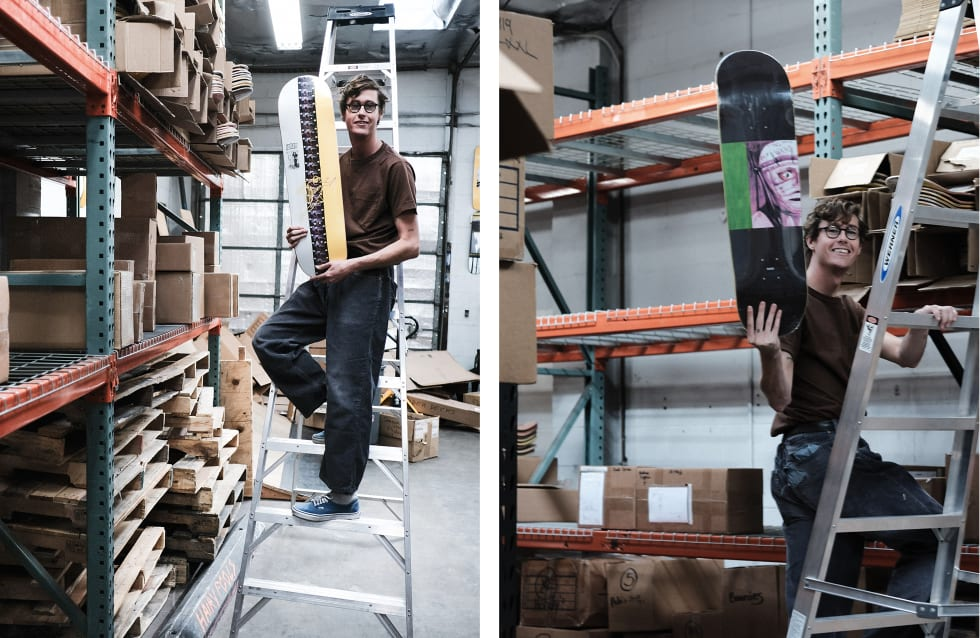 7. WKND Skateboards interview and behind the scenes warehouse visit. Johan Stuckey pro boards