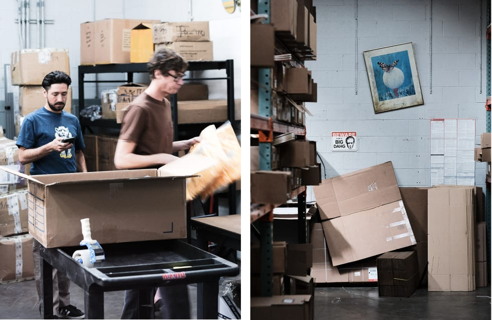 8. WKND Skateboards interview and behind the scenes warehouse visit. Grant Instagram