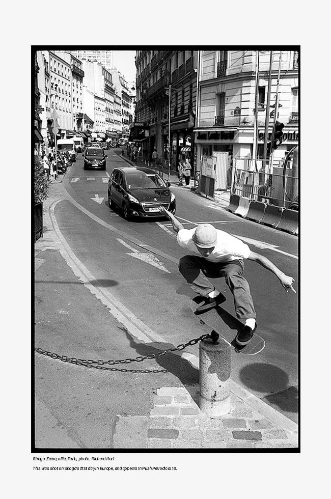 Push Periodical editor Rich Hart talks skateboard zines and inspiration. Shogo, paris.