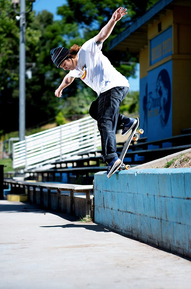 New Balance Numeric x Primitive Skateboards NM212 collab. Frankie Villiani, backside noseblunt slide. 4
