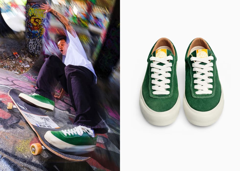 Last Resort AB VM001 Moss Green. Pontus Alv and Polar Skate Co New shoe company. 2
