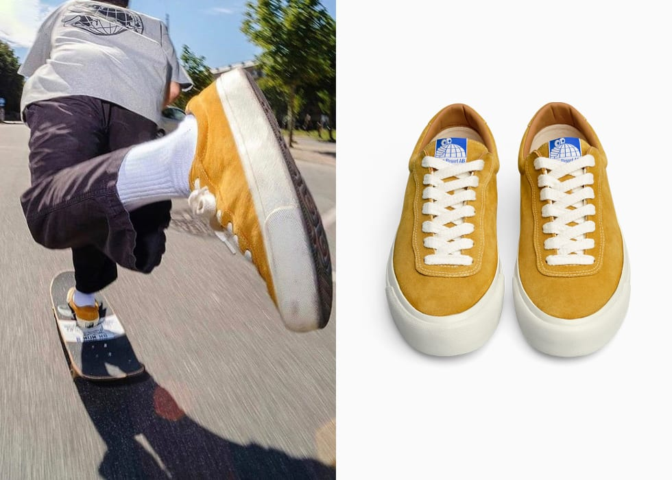 Last Resort AB VM001 Mustard yellow. Pontus Alv and Polar Skate Co New shoe company. 3