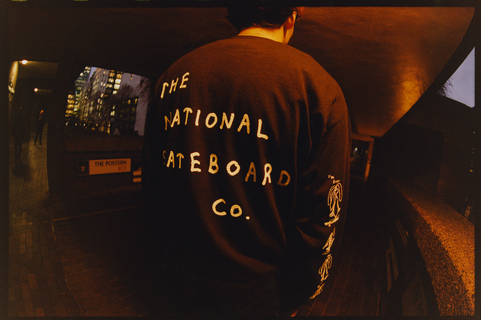2. The National Skateboard Co. Cut & Sew Pieces. The National Skateboard Co release a new cut and sew corduroy Harrington Jacket and 1/4 Zip Shirts