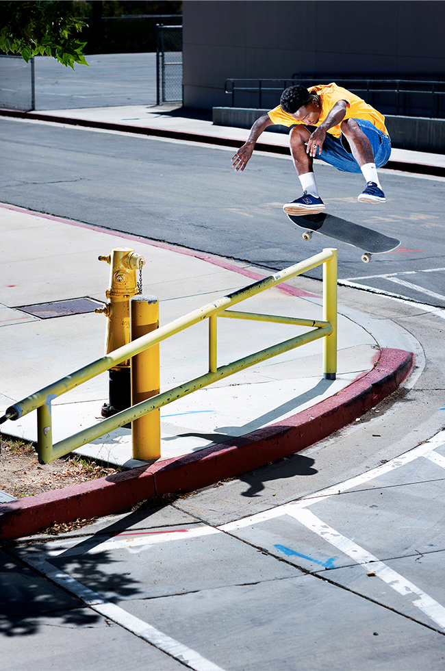 New Balance Numeric x Primitive Skateboards NM212 collab. Tre Williams, switch flip.