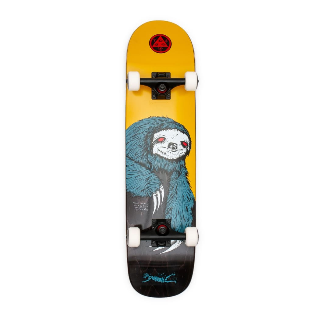 """Welcome Skateboards Sloth Complete Skateboard on Bunyip Gold / Black Stain - 7.75"""" 