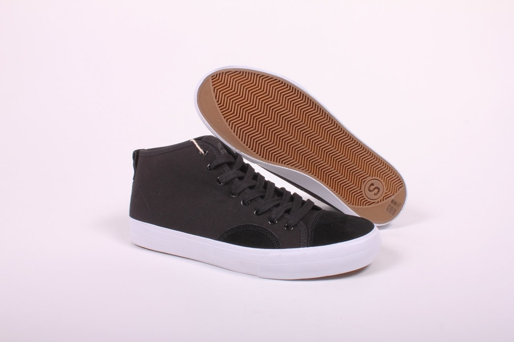 State Harlem Up Town Black/White Canvas Suede   Shoes by State Footwear 1