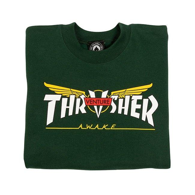 Thrasher Venture Collab Crewneck - Forest Green | Sweatshirt by Thrasher 2
