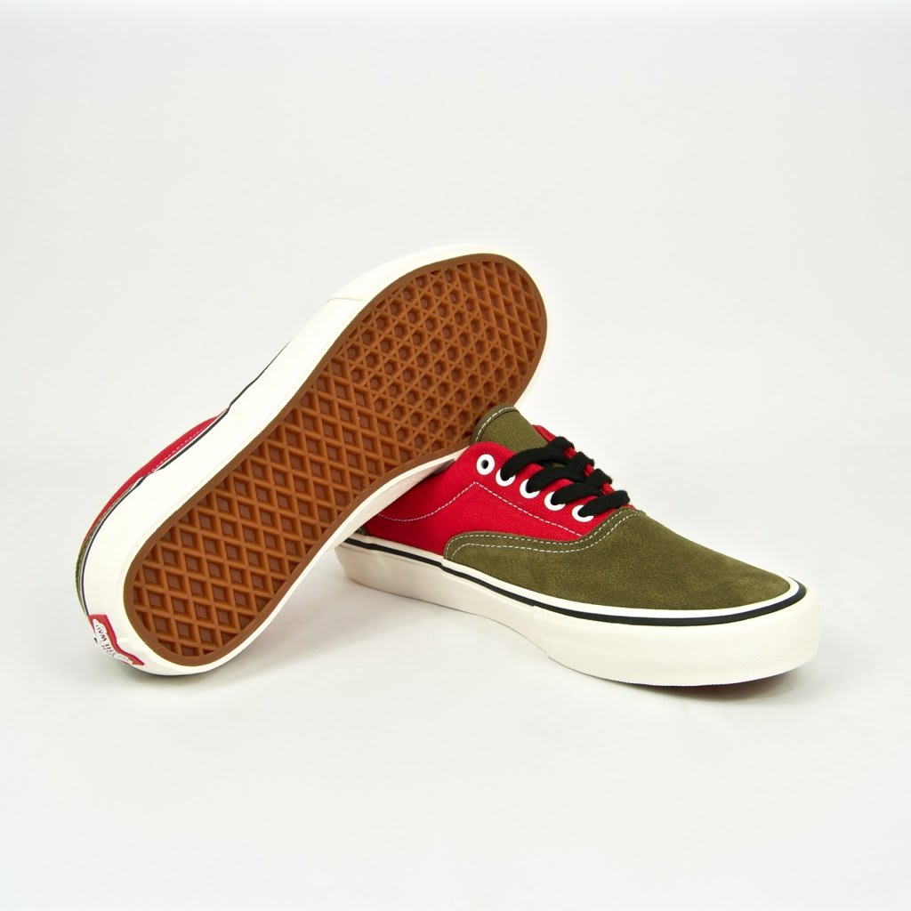 Vans x Lotties Era Pro LTD Skate Shoes - Red / Military | Shoes by Vans 3