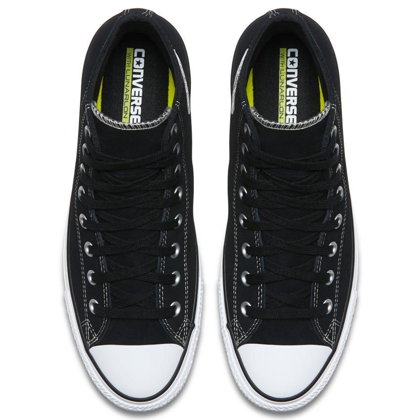 Converse Chuck Taylor All Star Pro High Top Shoes - Black/Black/White - Suede | Shoes by Converse Cons 4