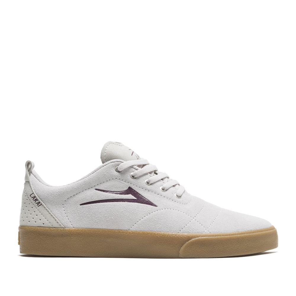 Lakai Bristol Suede Skate Shoes - White / Gum | Shoes by Lakai 1