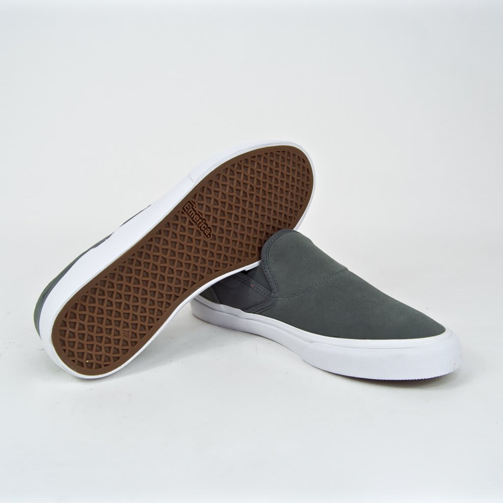 Emerica Wino G6 Slip-On Skate Shoes - Grey | Shoes by Emerica 4