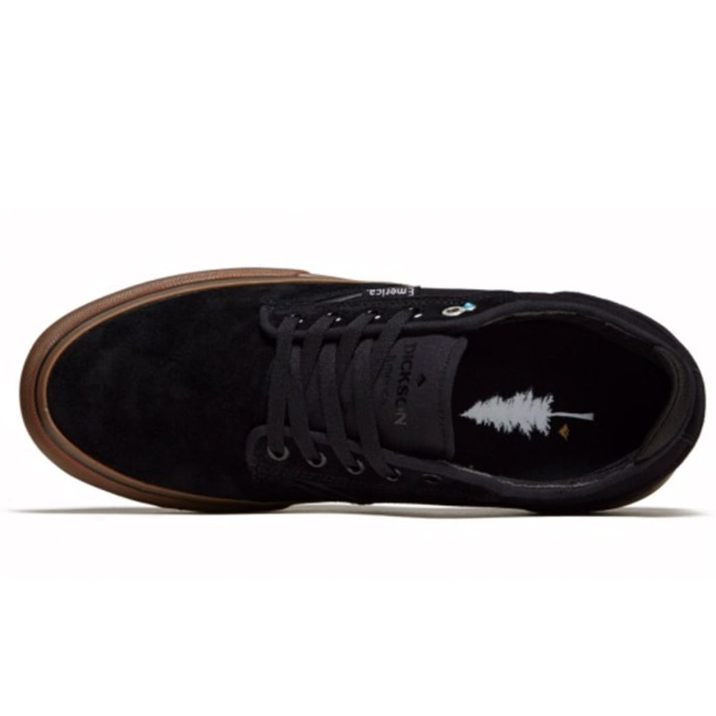 Emerica Dickson Skate Shoes - Black / Gum | Shoes by Emerica 4