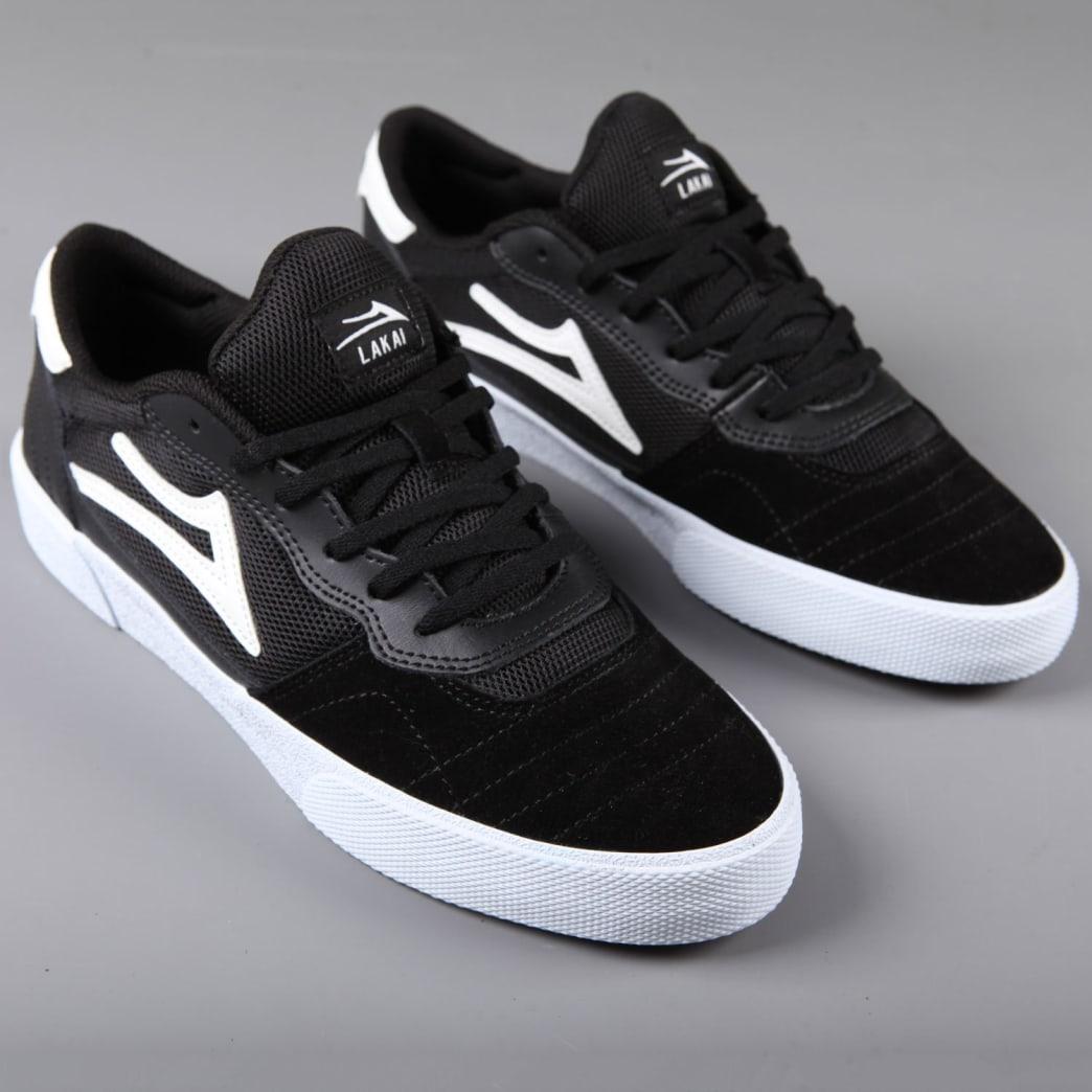 Lakai 'Cambridge' Skate Shoes (Black / White Suede) | Shoes by Lakai 1