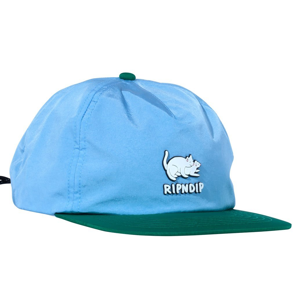 Rip N Dip Two Nerms Poly 5 Panel Cap - Blue/Green | Hat by Rip N Dip 1