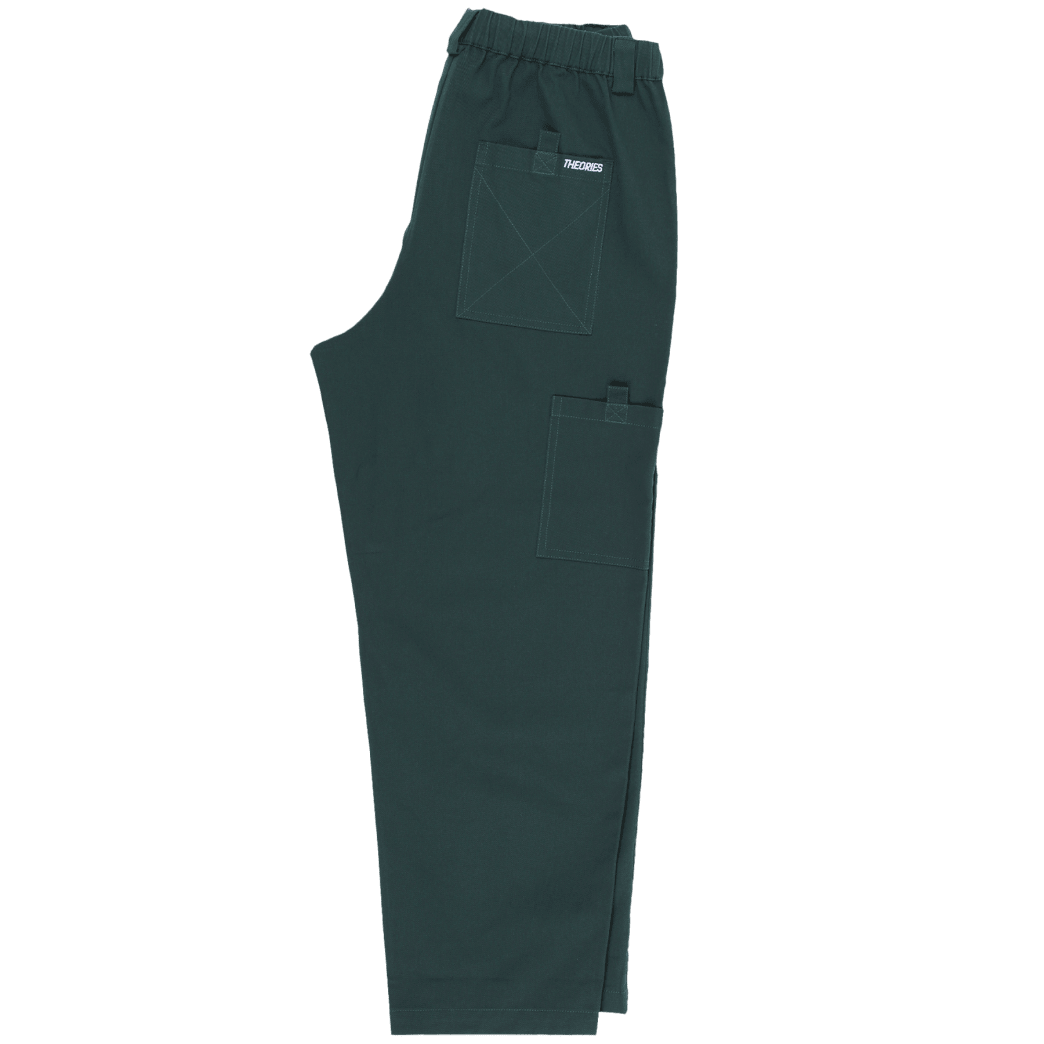 Theories Stamp Lounge Pant Scarab Green | Trousers by Theories of Atlantis 2