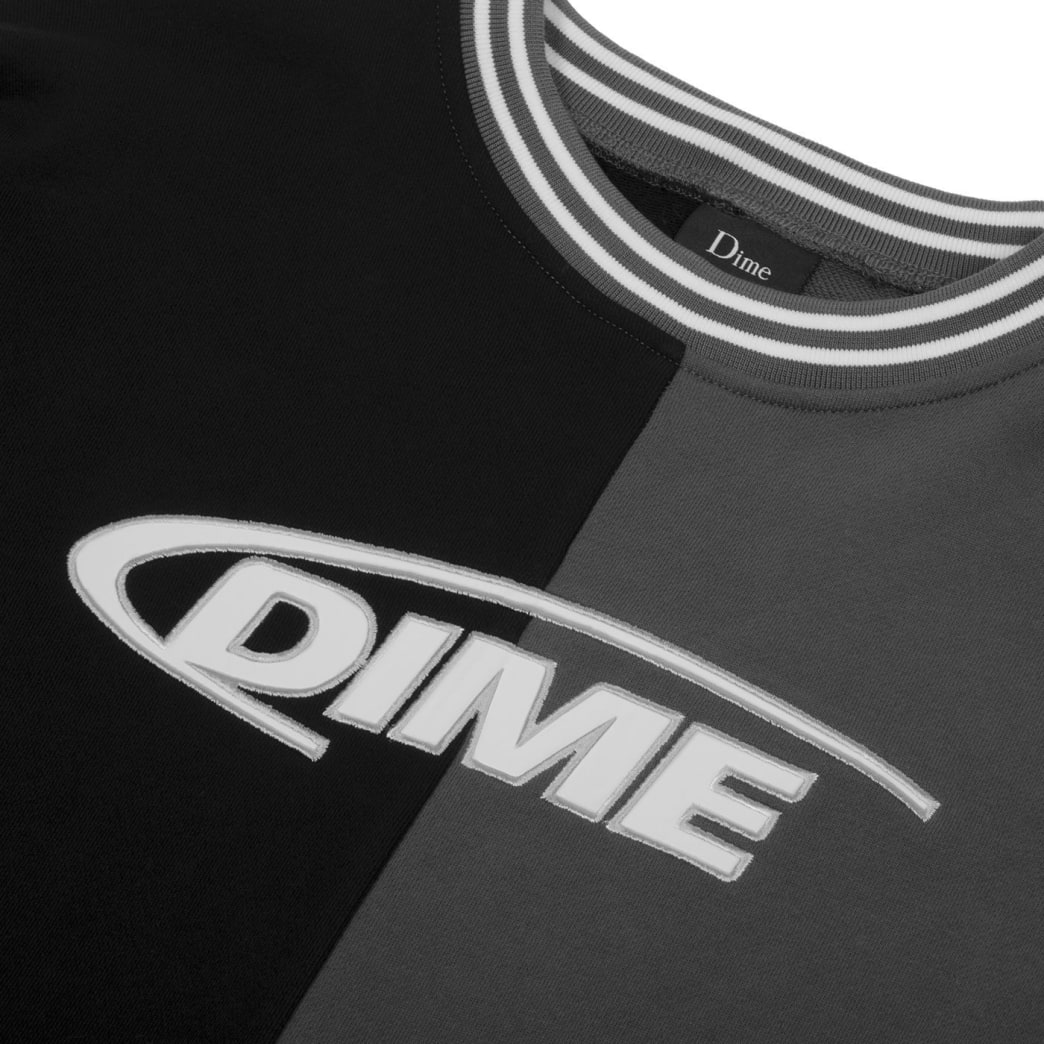 Dime French Terry Split Crew - Black | Sweatshirt by Dime MTL 2