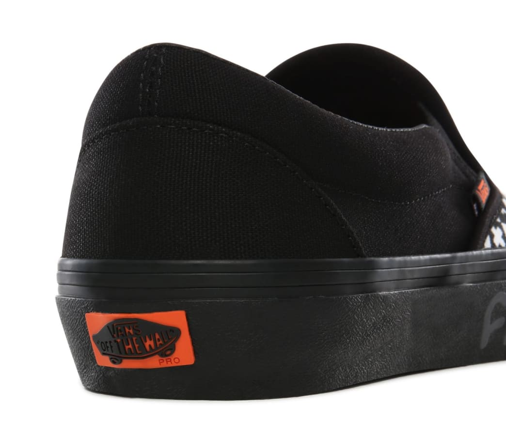 Vans CULT Slip On Pro Skate Shoes - Black Checker | Shoes by Vans 6