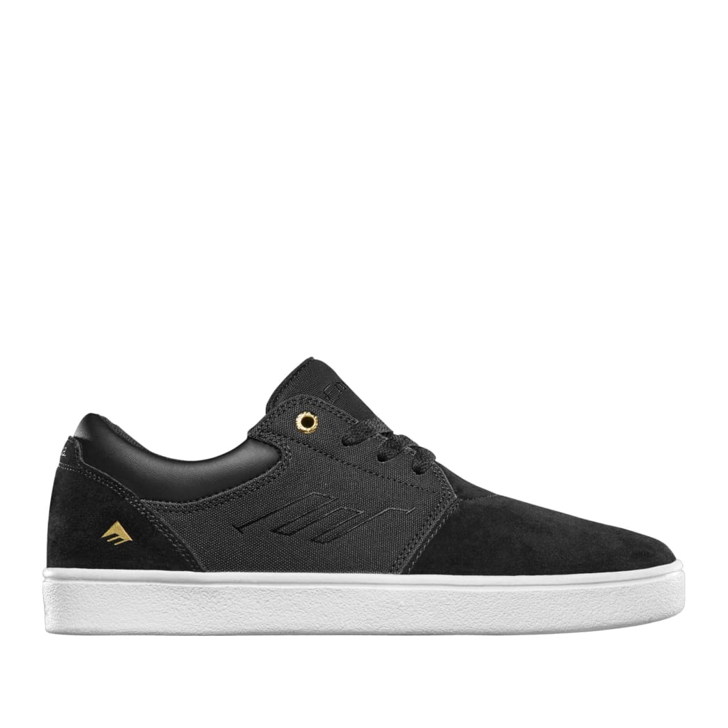 Emerica Alcove CC Skate Shoes - Black / White / Gold | Shoes by Emerica 1