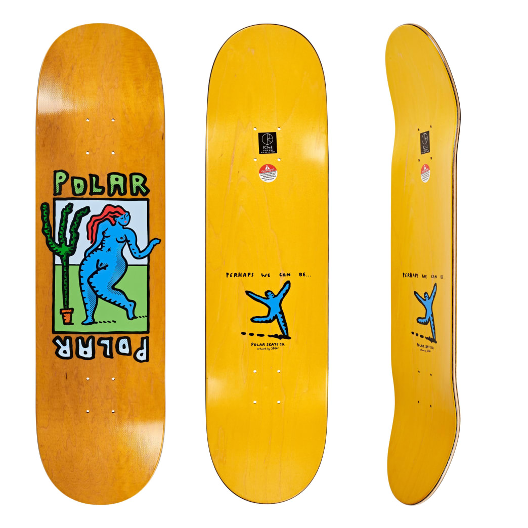 Polar Skate Co. Cactus Dance Slick Skateboard Deck - 8.375"