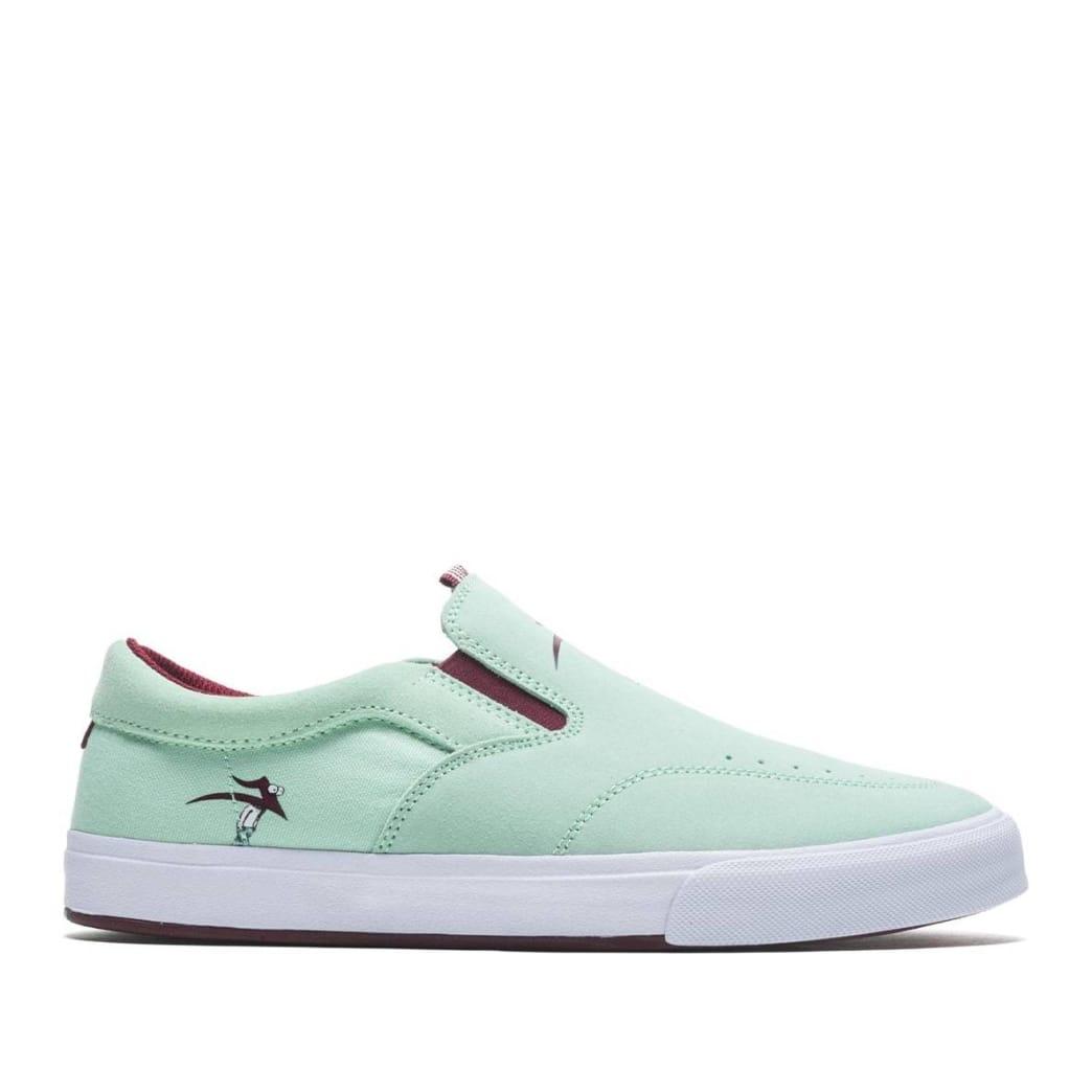 Lakai x Travis Millard Owen VLK Suede Skate Shoes - Mint | Shoes by Lakai 1