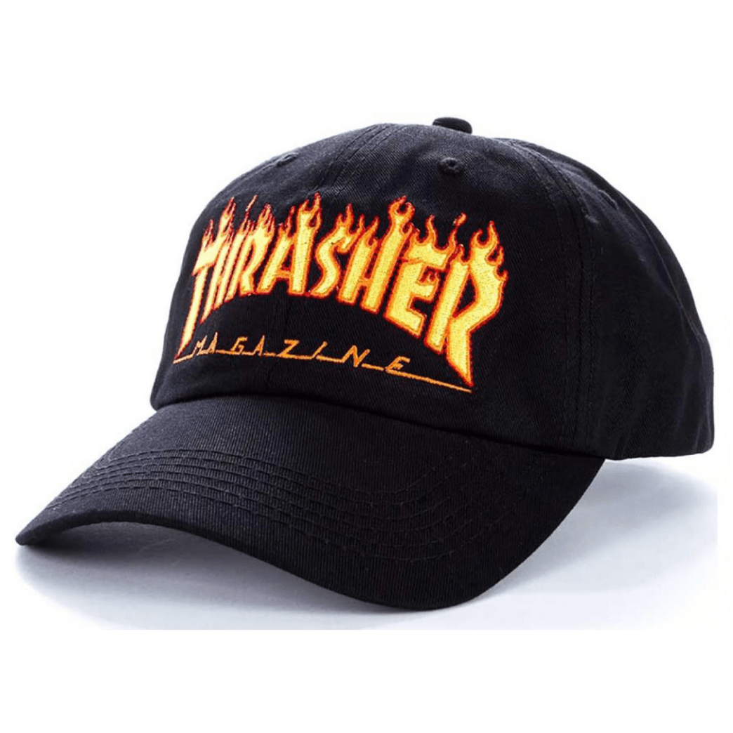 Thrasher - Flame Old Timer Cap - Black | Baseball Cap by Thrasher 1
