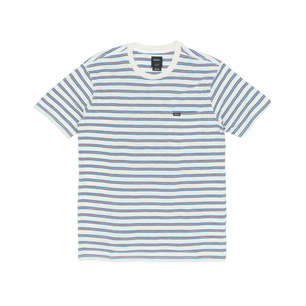 RVCA Vincent Stripe T-Shirt - Silver Bleach | T-Shirt by RVCA 1