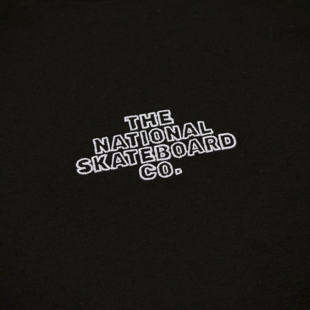 The National Skateboard Co Classic Logo T-Shirt - Black   T-Shirt by The National Skateboard Co. 3