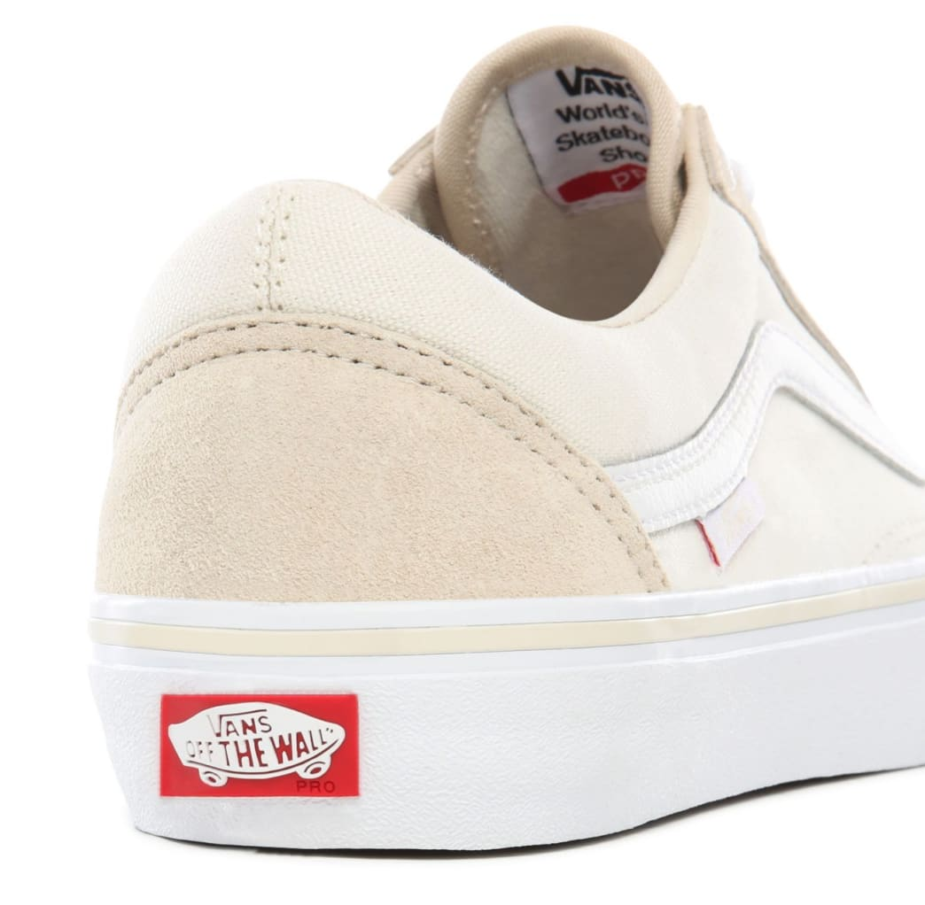 Vans Old Skool Pro Skate Shoes - Marshmallow / White | Shoes by Vans 6