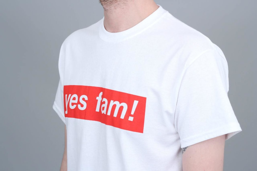 Yes Fam! Logo T-Shirt - White / Red | T-Shirt by Yes Fam! 2