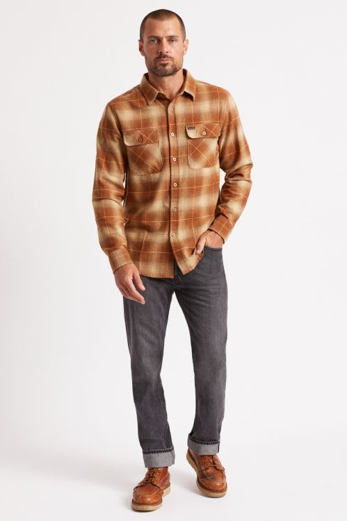 BRIXTON BOWERY L/S FLANNEL - COPPER | Shirt by Brixton 3