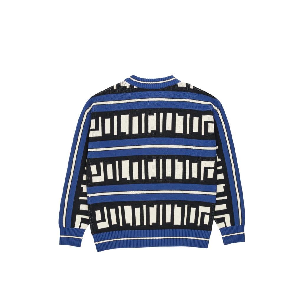 Polar Skate Co Square Logo Knitted Sweater - Blue / Black / Ivory | Sweatshirt by Polar Skate Co 2