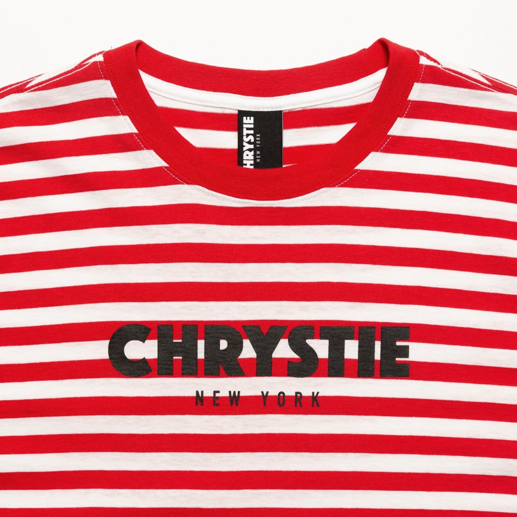 Chrystie OG Logo Stripe T-Shirt_Blue | T-Shirt by Chrystie NYC 3