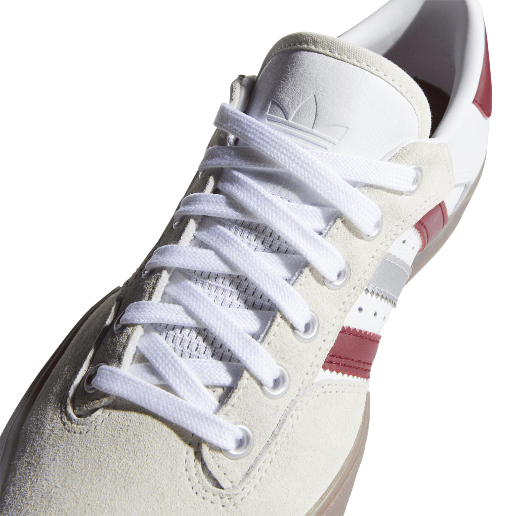 Adidas Matchbreak Super Shin Sanbongi Skateboarding Shoes - FTWR White / Collegiate Burgundy / Gum 4 | Shoes by adidas Skateboarding 8