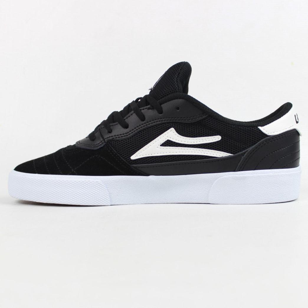 Lakai Cambridge Shoe Black/White Suede | Shoes by Lakai 4