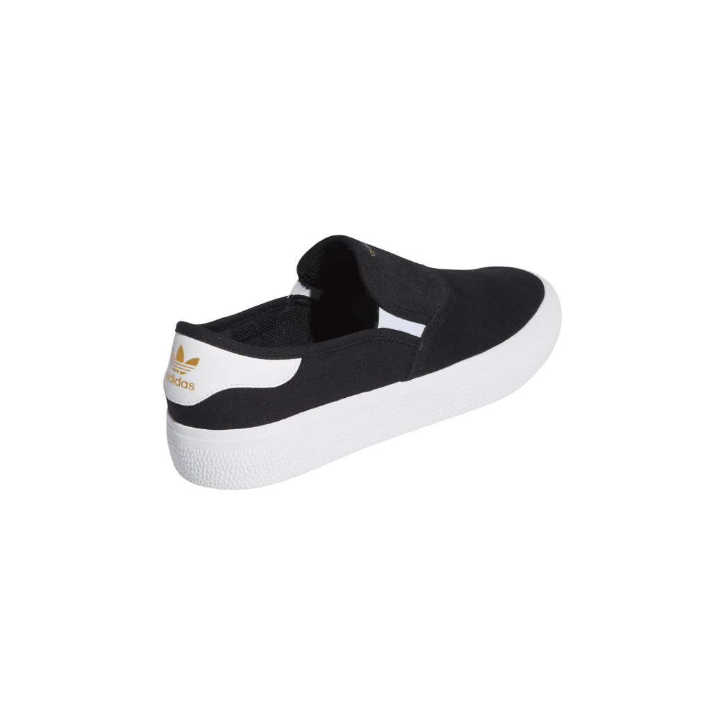 adidas 3MC Slip-On Skate Shoes - Core Black / FTWR White / Gold Met   Shoes by adidas Skateboarding 5