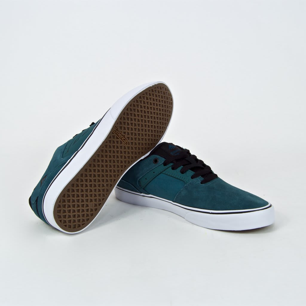 Emerica The Reynolds Low Vulc Skate Shoes - Teal / Black   Shoes by Emerica 4